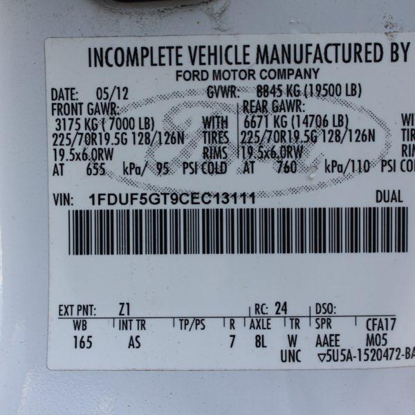 IMG 2936 600x600 - 2012 FORD F550 DUMP TRUCK