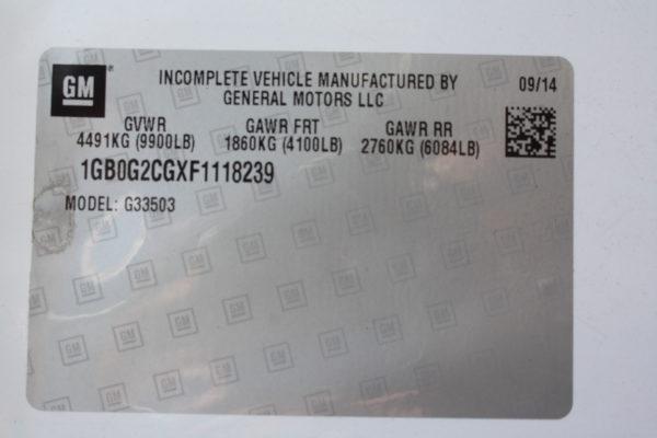 IMG 3633 600x400 - 2015 CHEVROLET G3500 ENCLOSED 11FT  UTILITY