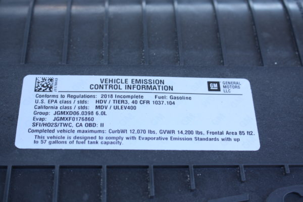 0217 34 600x400 - 2018 CHEVROLET G3500 EXPRESS CUTAWAY SPARTAN UTILITY