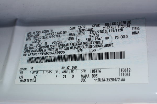 IMG 8125 600x400 - 2012 FORD E150 CATERING REFRIGERATED VAN